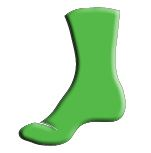 Lime Green Sock