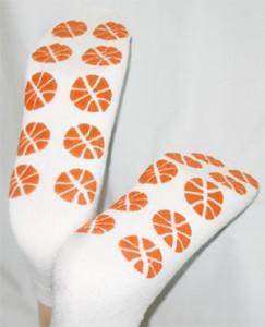 Basketballs Large PromoTreds Socks